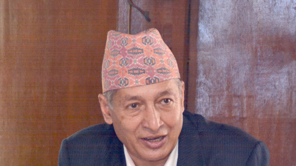 Yuba Raj Khatiwada - Dr. Yuvraj Khatiwada ,finance minister of Nepal - the times of nepal -thetimesofnepal