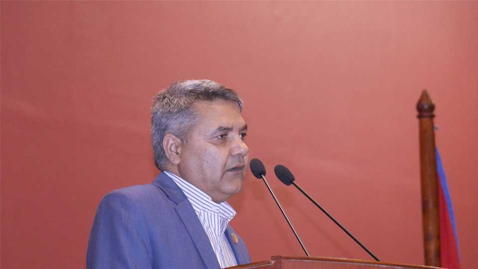 Gokul Baskota, Minister of Communications - The Times Of Nepal