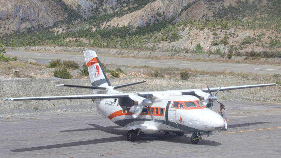 मनाङको हुम्डे विमानस्थल - humde airport - the times of nepal
