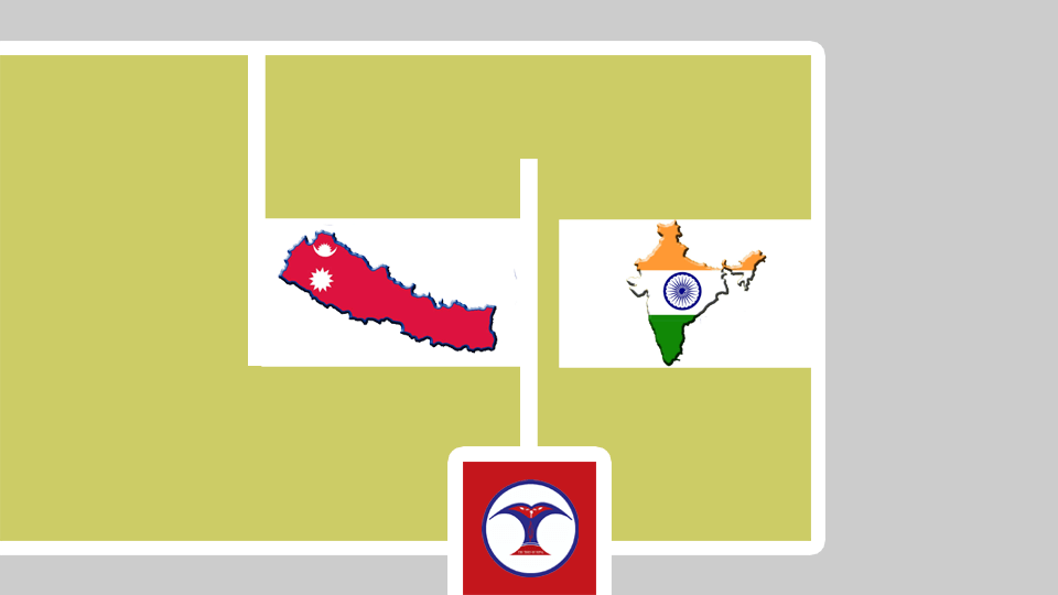 Map of Nepal and India - The Times Of Nepal