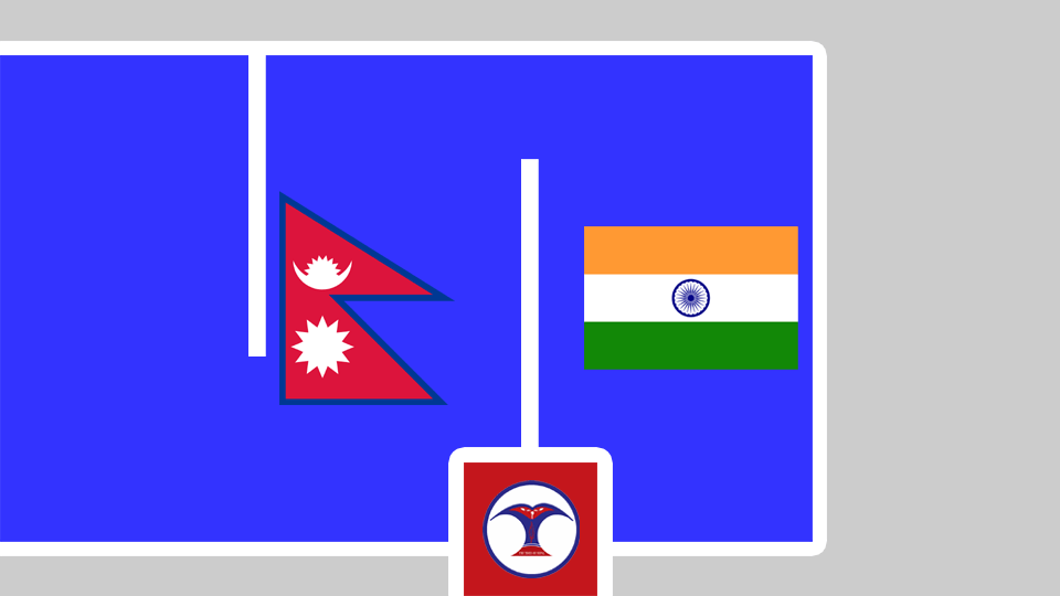 Nepal and india flag - The Times Of Nepal