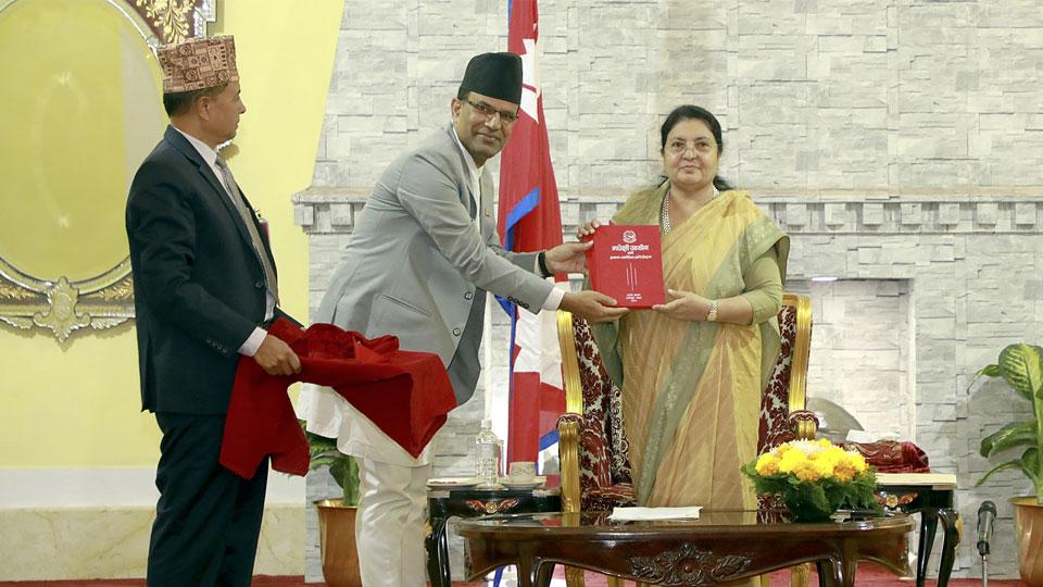 राष्ट्रपतिसमक्ष, दुई प्रतिवेदन - The Times Of Nepal