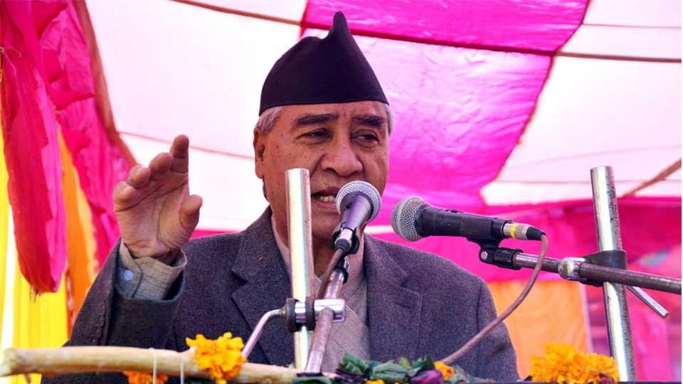 नेपाली काँग्रेसका सभापति शेरबहादुर देउवा