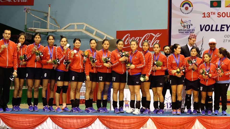 रजत पदक जित्न सफल भएका खेलाडीहरु - The Times Of Nepal